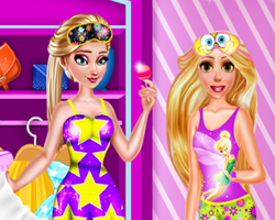 Rapunzel and Elsa PJ Party